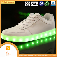 China manufacturer high quality lighting flashing luminous beautiful girls shoes