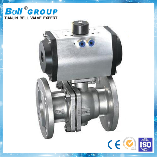 Food Grade 4 Inch Stainless Pneumatic Ball Valve