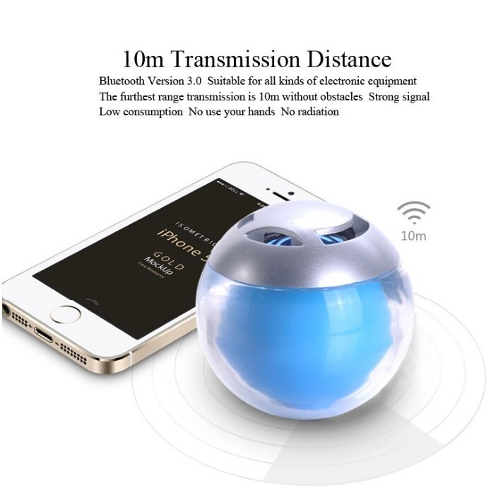 2015 innovative Portable Mini Bluetooth Speaker With LED Light Good Sound