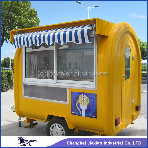 2015 new design Kiosk trailer!!!Customized gas operated crepe machine trailer
