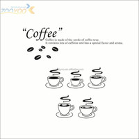 Zooyoo vinyl coffee time wall sticker 3d wallpaper decorative wall stickers art home deco decorative products (ZY-8306)