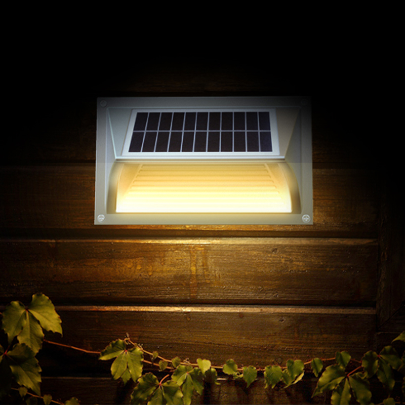 Warm White Recessed Step Solar Lights For Outoor Pathway