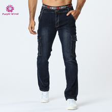 Men regular fit jeans with casual style dark blue zipper and button slight stretch fabric latest design denim pants