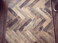 Herringbones European Reclaimed Oak flooring, 200 years old wood