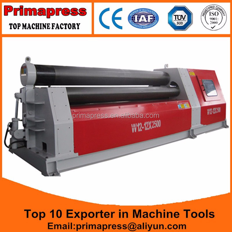 Hot sale in Thailand W12-25x2000 hydraulic Iron/<strong>Steel</strong> Plate <strong>Rolling</strong> <strong>Machine</strong> with 4 Roller