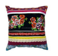 Fashion Laces and Multi Patched with Heavy Embroidered Cushion Cover