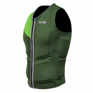 New design with best quality life vest fluorescent green life jacket for sports swimming suitable for adult