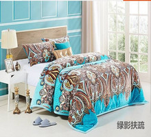 100% polyester high quality cheap super soft print coral fleece blanket