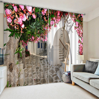 Fancy garden 3d curtains for living room