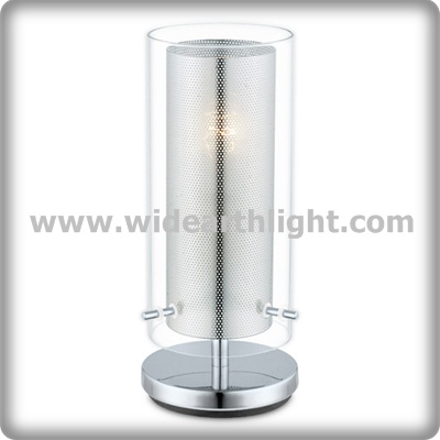 UL CUL Approved Hotel Supplier Metal Frame And Glass Shade Night Stand Lamp T80351