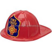 Red Popular Top Quality Best Sale Funny Toy Fire Man Helmet Hard Plastic Party Adult Child Hat CH4151