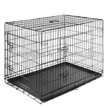 Wire Folding large dog cages with tray lock