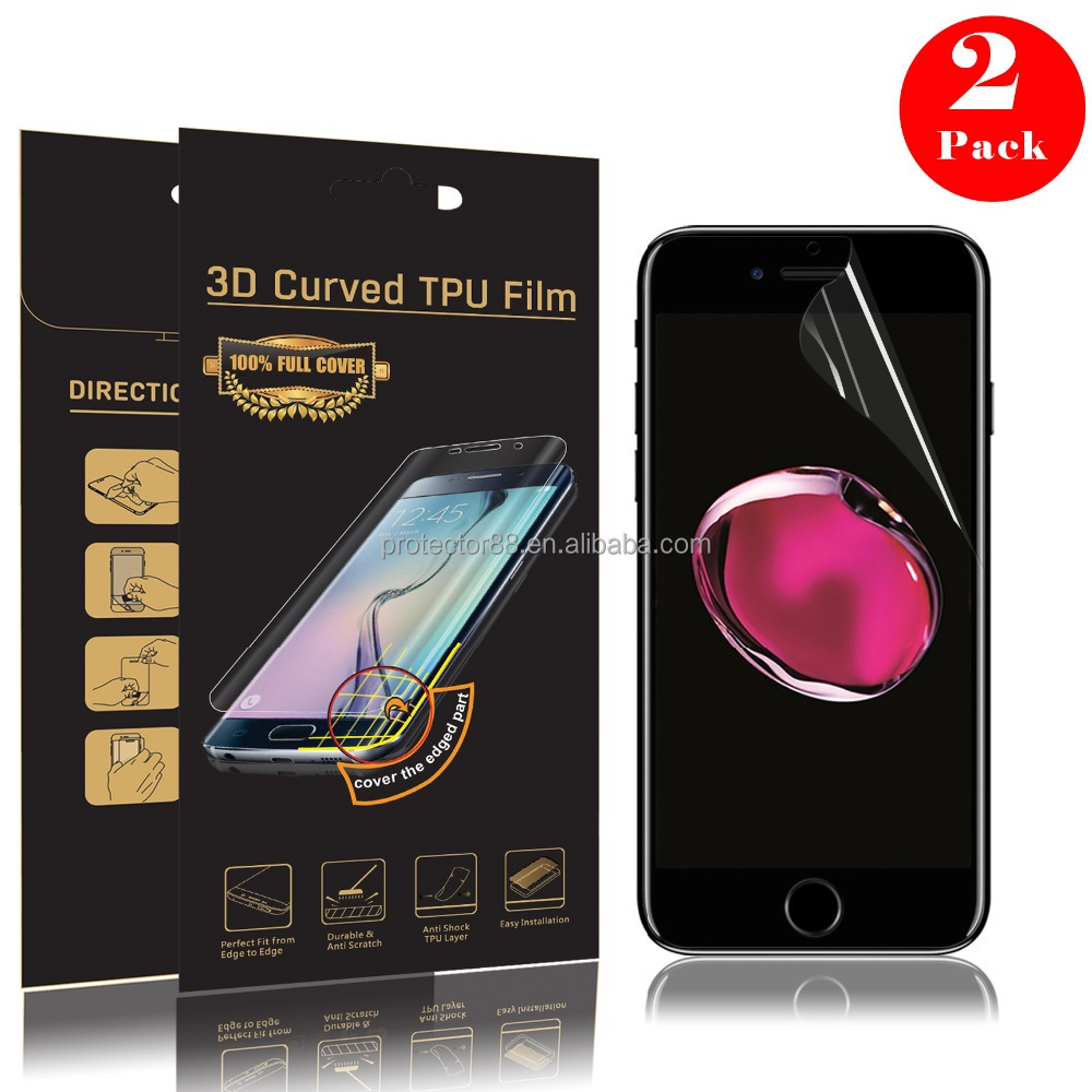 For iPhone 7 / 7plus Mobile phone LCD screen protector / Full SIZE Soft TPU Film screen protector