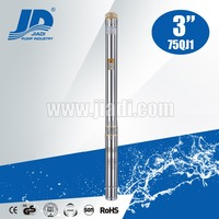 3 inch 75QJ1 multistage diameter water submersible deep well pumps