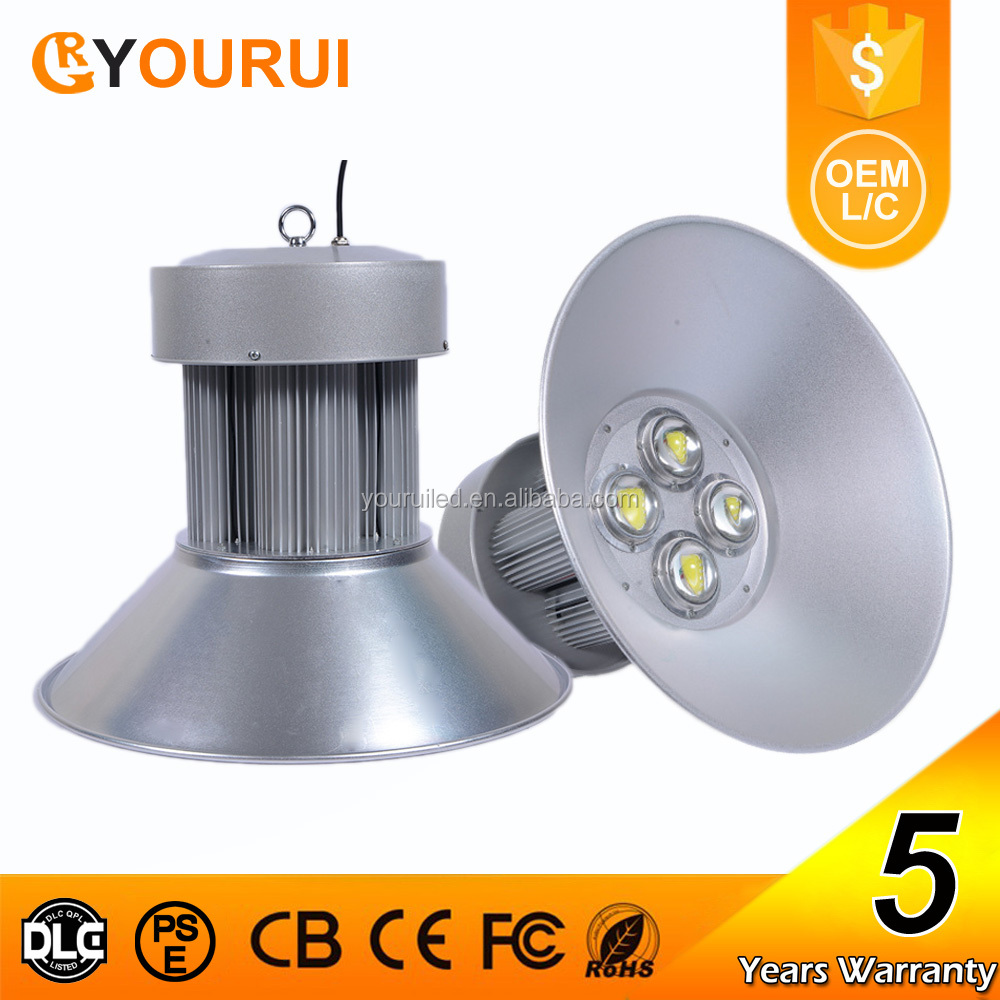 5 year warranty IP65 factory warehouse industrial 200w led high bay light