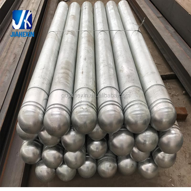 Hot dip galvanized steel fabricator fabricated steel tube steel safety bollards