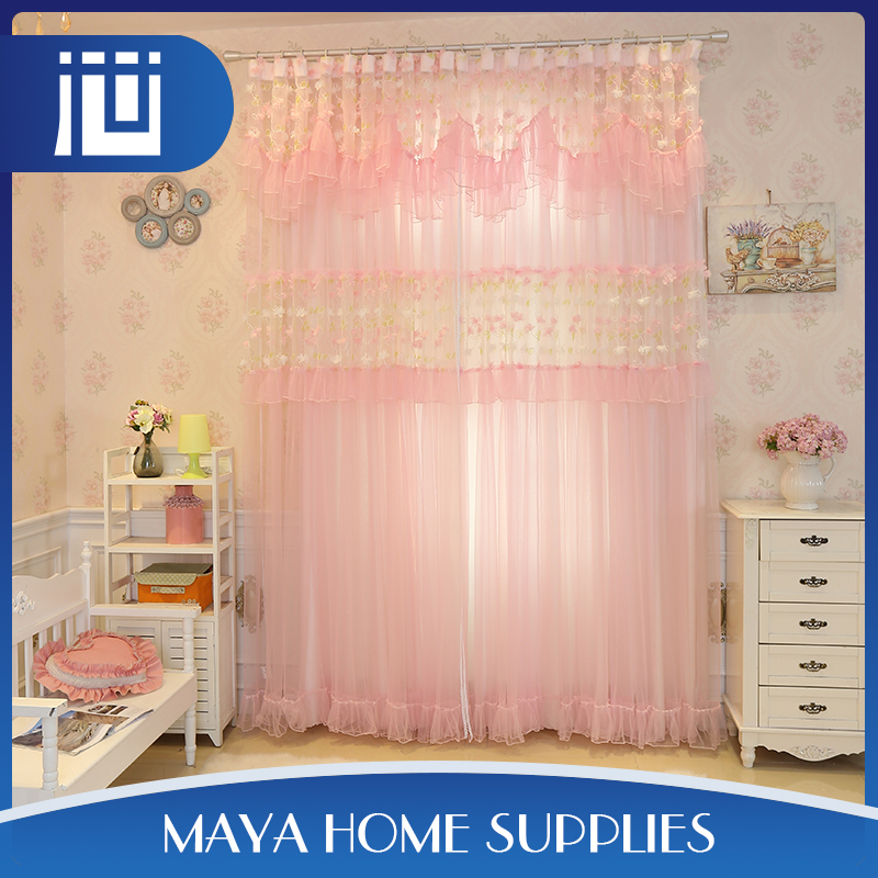 Factory commercial decorative custom sound proof princess lace curtain made in china