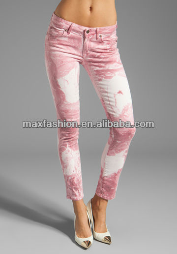 New look women mix color skinny jeans