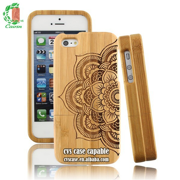 Engrave Wooden Cell Phone Case Custom For Iphone 5s Cover 4.5 Inch Phone Case.
