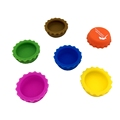 Custom Colorful Foot Grade Silicone Beer Caps bottle / cap for animal feed