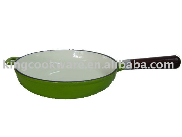 Cast Iron Skillet, Cast Iron Cookware, Kitchenware, Enamel Fry Pan With Handle