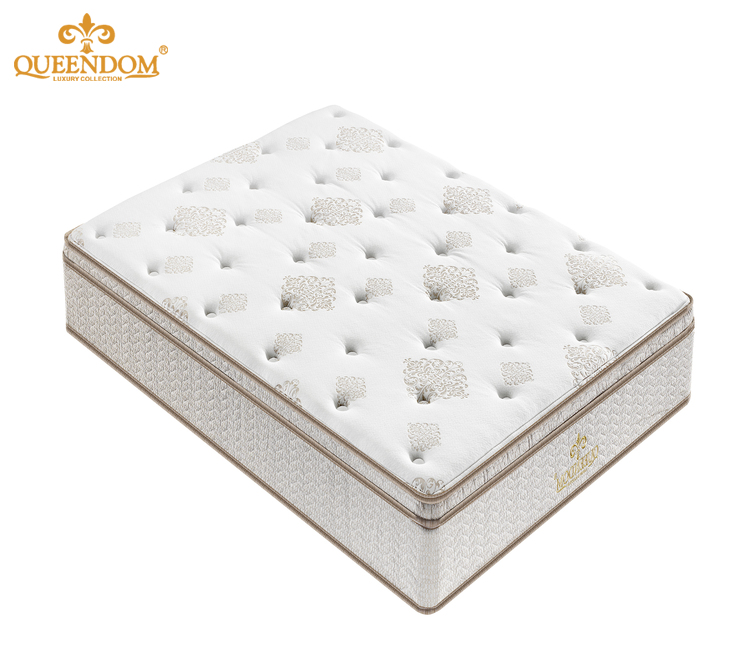 4cm Soppurted foam vaccum pillow top queen size Gel infused mattress at 19cm height - Jozy Mattress | Jozy.net