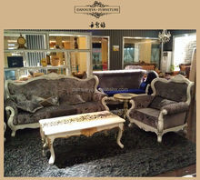 European antique classic sofa furniture living room farbic sofa