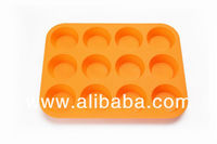 12 cup silicone cake mold and silicone mini muffin pans