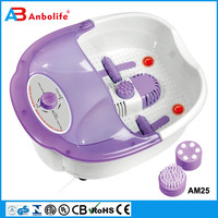 Anbolife advance reflex battery operated electronic wave pulse multifunction foot bath machine water foot massager