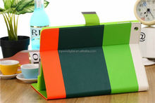 Bright Colorful Rainbow PU Leather Stand For iPad 2/3/4 Cases with Card Slot