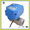 TF-CWX-25s electric actuator auto control with manual ball valve DN15 1/2'' DC3-6V for water treatmnet