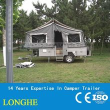 Aquarius-2014 new forward hard floor camping trailer with High quality jockey wheel like AL-KO