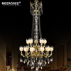 MEEROSEE 2017 Zhongshan Stair Lighting Dragon Fruit Glass Lampshade Large Luxury Crystal Hotel Chandeliers for Sale MD88086-L15