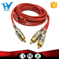 high quality rca to 2 rca cable transparent rca cable