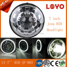 4x4 Off Road Driving Lights 7inch halo round JEEP Wrangler HID Headlight