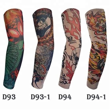KaPin fashion rock man women decorative tattoo printed protective sleeves for arms