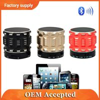 music portable metal mini bluetooth speaker with USB and TF card