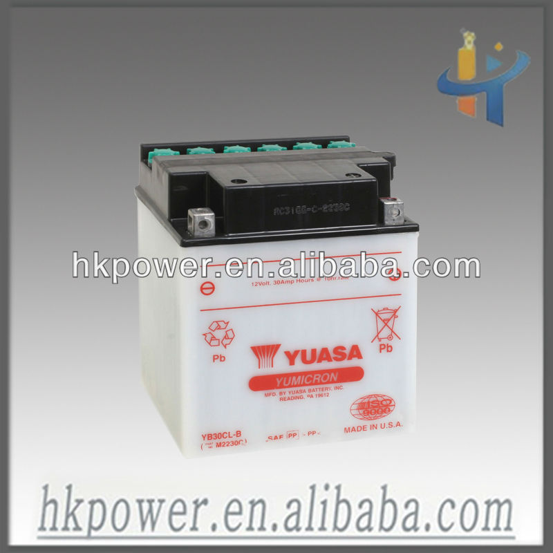 Yuasa sealed 12V 30AH vrla battery, 12V 30AH battery for ups rachargeable deep cycle battery