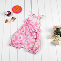 2017 hot sale infant toddlers bubble lace heart 100% cotton clothing baby romper