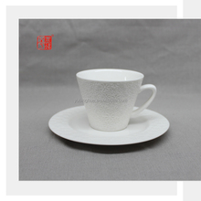 Pretty Design Wholesale Coffee Tea Cup and Saucer Set with Snowflake Pattern