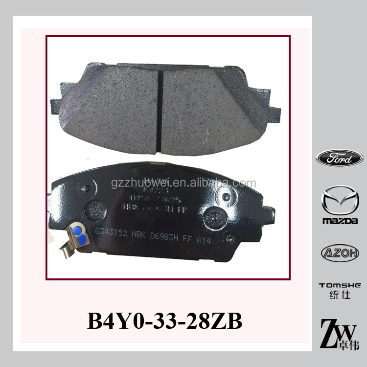 Automobile Parts Mazda 3 Axela atv Brake Pads For B4Y0-33-28ZB , B4Y0-33-28Z