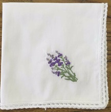 30x30 cotton hand embroidery handkerchief