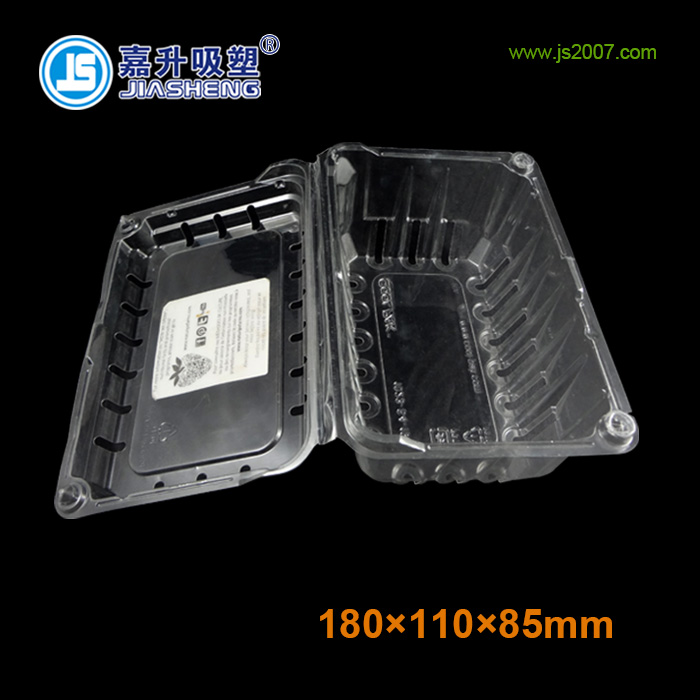 Eco-friendly clear plastic clamshell and Vegetable and fruit storage plastic packaging clamshell and food container