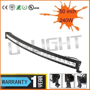 New arrival! 240w 50 inch led light bar 100w/140w/200w/240w single row led light bar