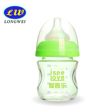 high quality 120ml baby glass feeding bottle with nipple