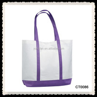 Customizable Durable Beach Canvas Tote Bag For Shopping Cotton Tote Bag