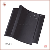 ISO Quality Waterproof Japanese Glazed Clay Roof Tile for Villas Roofing