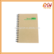 Kraft paper notebook soft cover clear cover notebook for office stationery supply