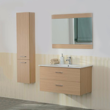 Factory price simple style free standing cupboard wash basin bathroom mirror cabinet