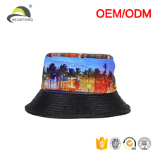 custom hawaii print 100%cotton reflective lady's towel bucket hats women